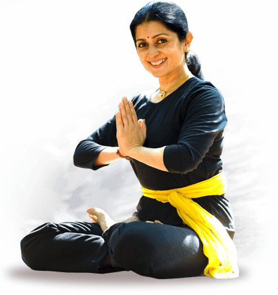 Padamasana pose by Mimi Parthasarathy, founder and Managing Trustee of Sri Krishna Wellness, Yoga and Cultural Centre.