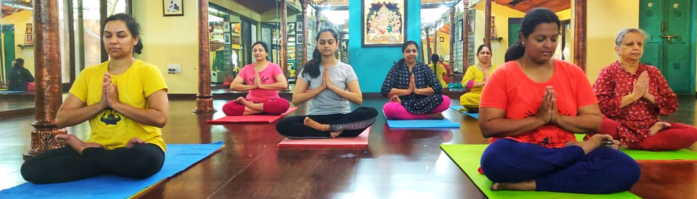 Padmasana or cross-legged yoga posture is a sitting posture that is used during meditation at one of yoga classes